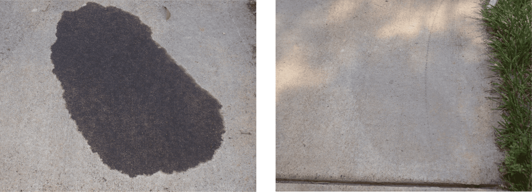 Driveway Oil Stain