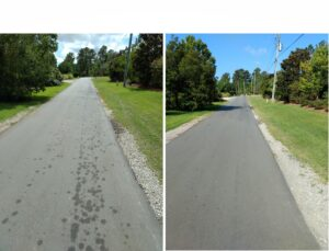 Hydraulic Leak cleaned with Bio-dry Asphalt Special Blend Cleaner