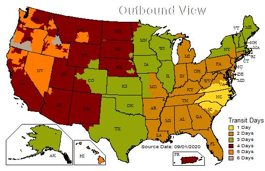 UPS map 0189 SEP20